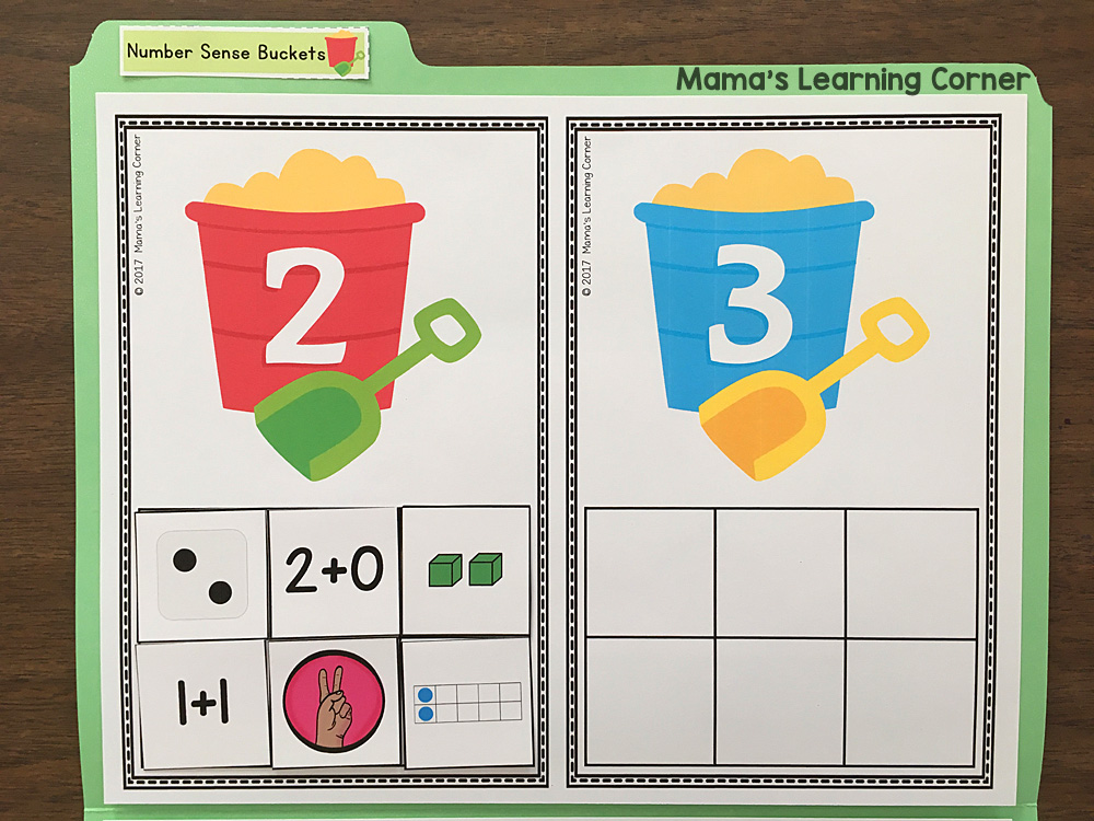Summer File Folder Games Number Sense