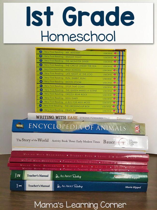 1st Grade Homeschool Curriculum