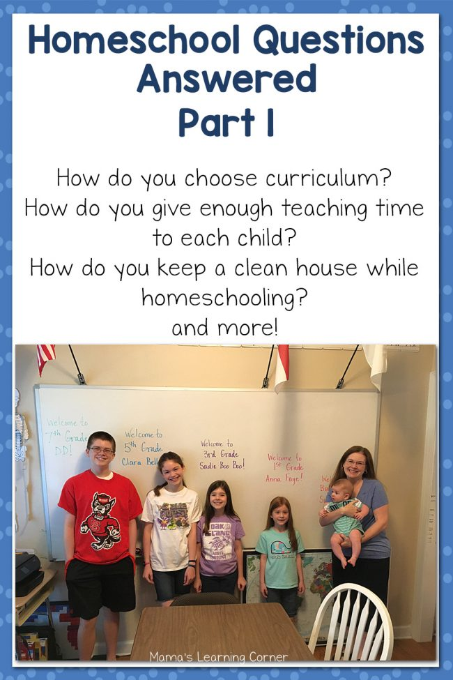 Homeschool Questions Answered Part 1
