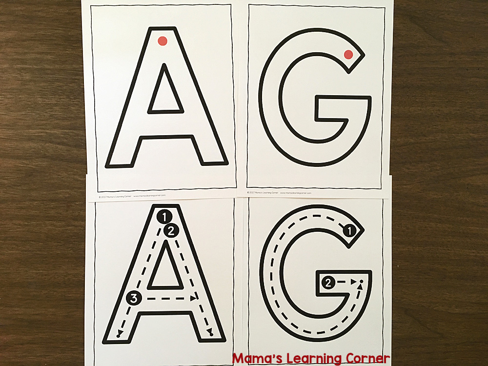 Letter Formation Cards Capital