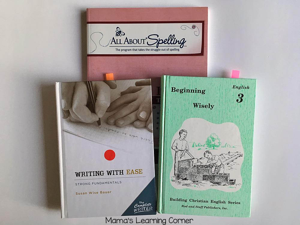 3rd Grade Homeschool Curriculum: Spelling Writing Grammar