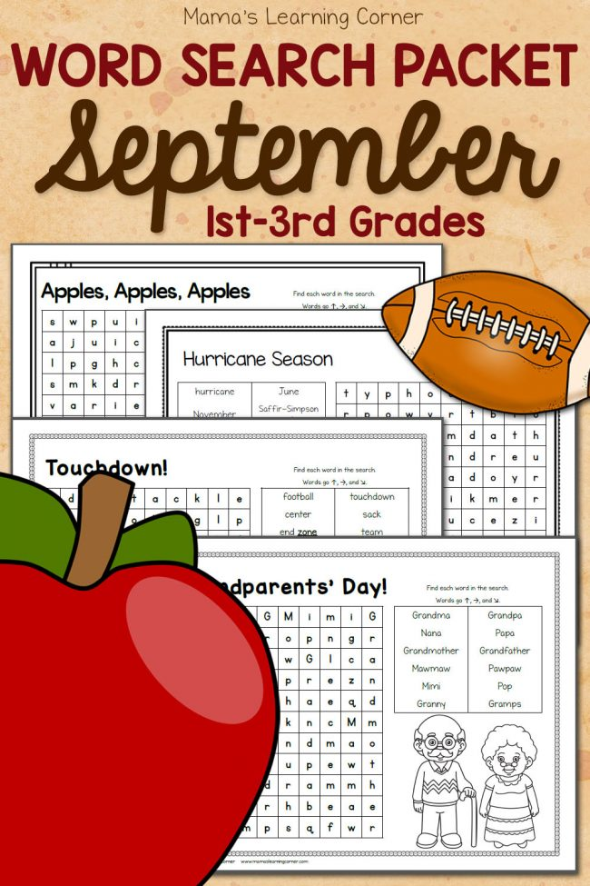 September Word Searches