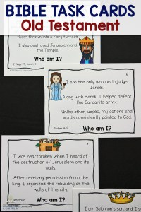 Bible Task Cards for Old Testament Characters