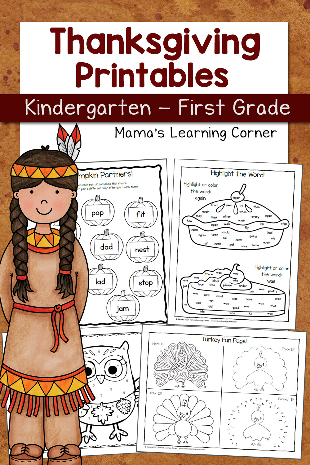 - Thanksgiving Worksheets For Kindergarten And First Grade - Mamas