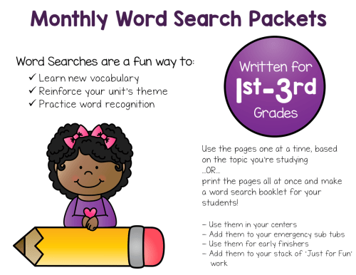 Word Search Bundle Preview Page
