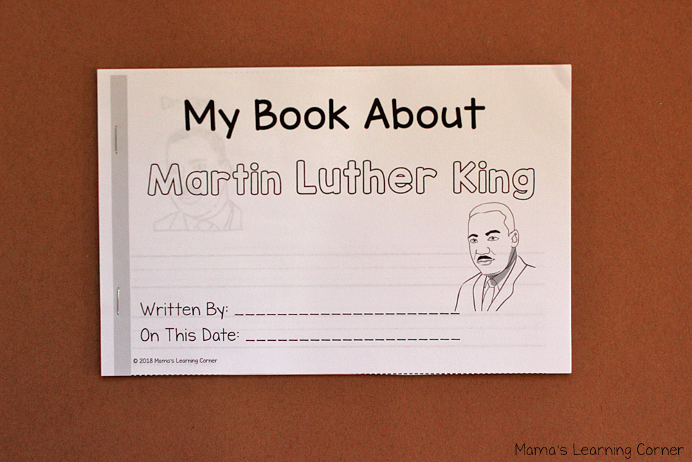 Martin Luther King Writing Book