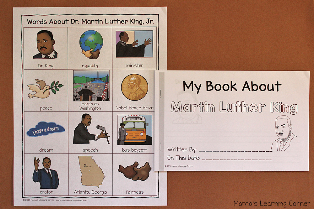 Martin Luther King Writing Booklet and Dictionary