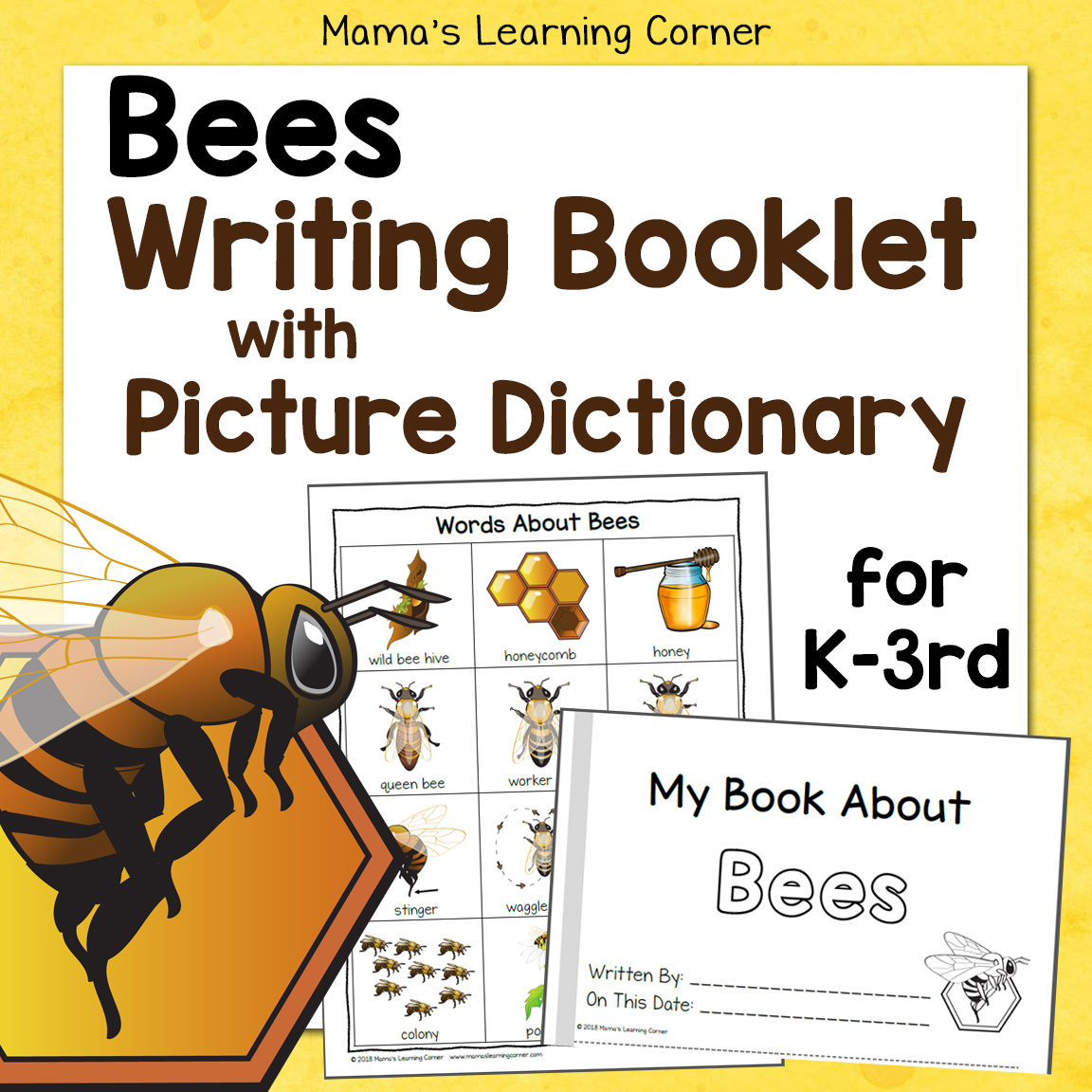 Bees Writing Booklet With Picture Dictionary