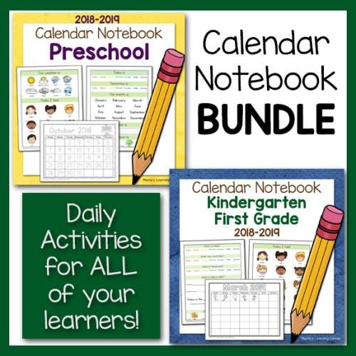 Calendar Notebook Bundle 2018 2019
