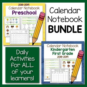 Calendar Notebooks for 2018-2019 Bundle