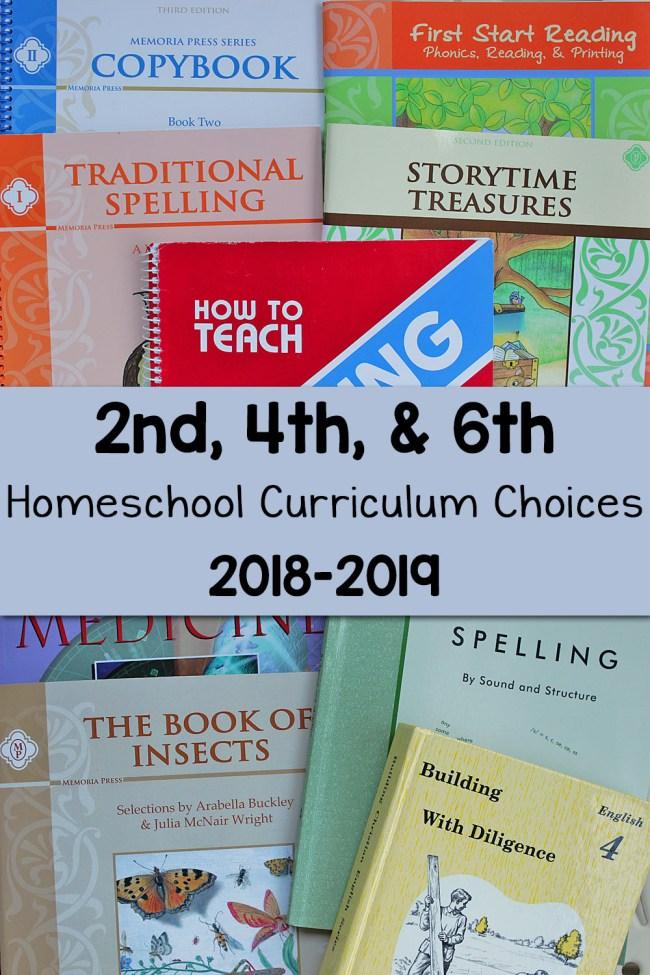 Homeschool Curriculum Choices 2018 2019