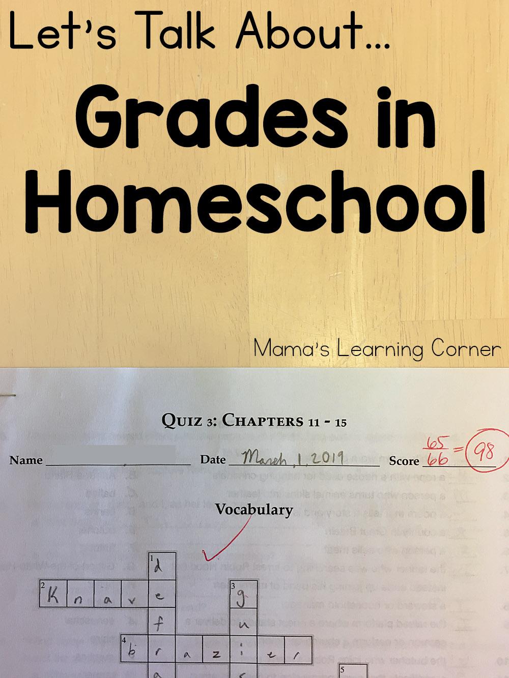 Grades in Homeschool