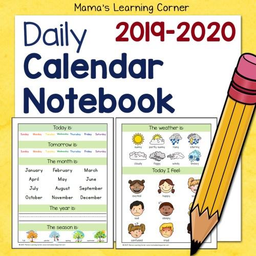 Calendar Notebook 2019-2020