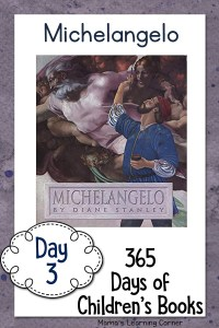 Day 3 of Children's Books – Michelangelo