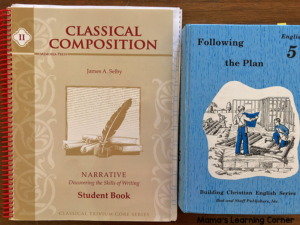 5th Grade Homeschool Curriculum English Grammar and Composition