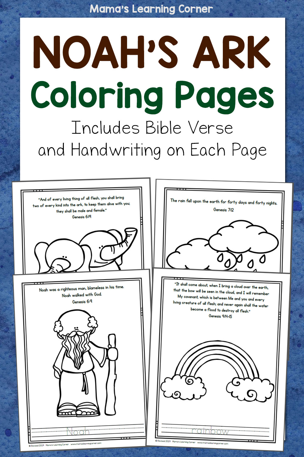 Color by Number Bible Coloring Pages on Sunday School Zone | 1500x1000