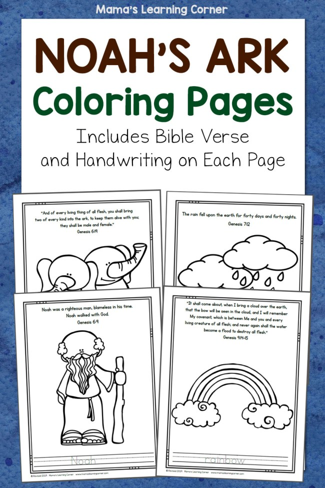 Noahs Ark Coloring Pages Bible
