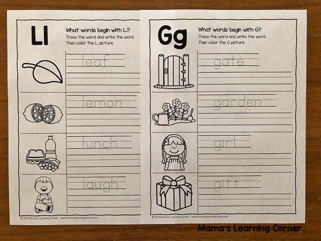 Alphabet Writing Practice Worksheets
