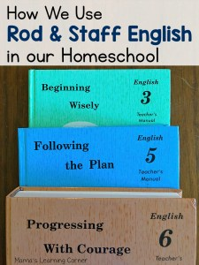 How We Use Rod and Staff English in Our Homeschool