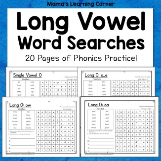 Long Vowel Word Search Packet