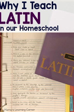 Why I Teach Latin in Our Homeschool