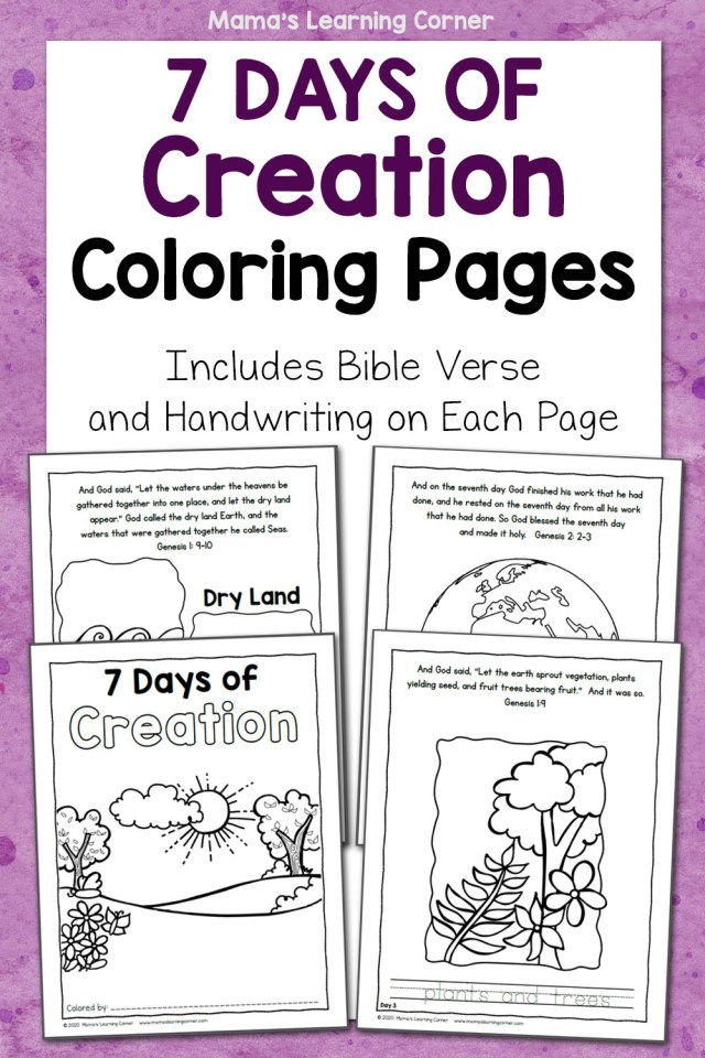 25 Days of Creation Coloring Pages - Mamas Learning Corner
