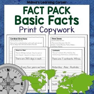 Basics Fact Pack Print Copywork