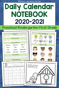 Daily Calendar Notebooks for 2020-2021