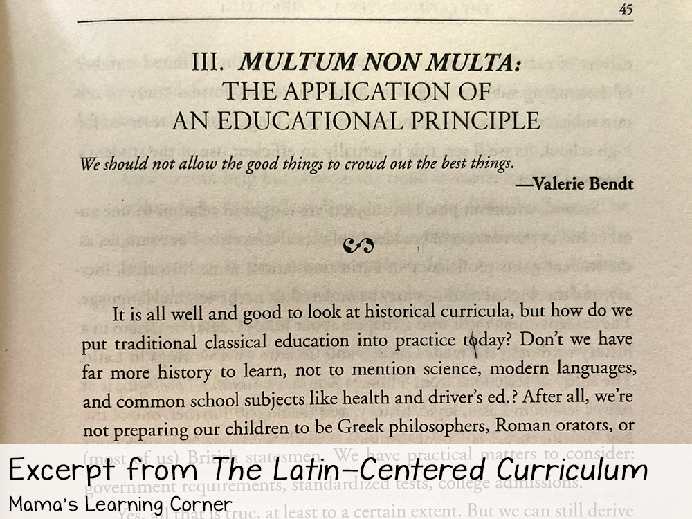 Educating Myself as a Classical Homeschooling Mom Latin Centered Curriculum