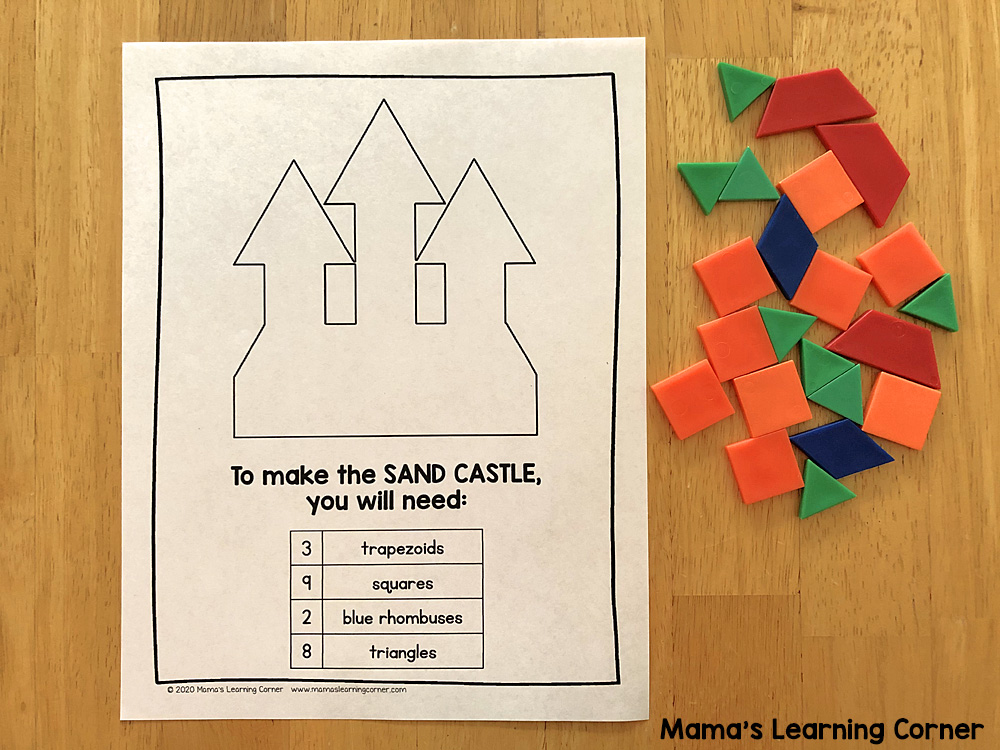 Summer Pattern Block Mats Sand Castle