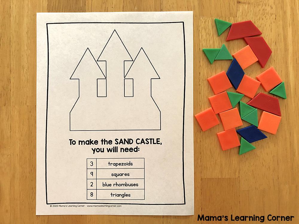 Summer Pattern Block Mats Sand Castle