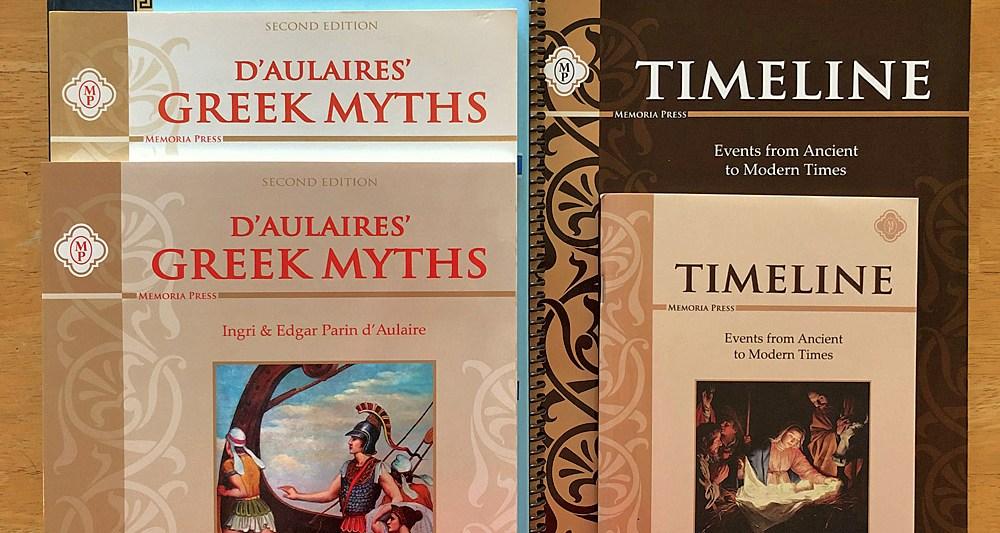 4th Grade Homeschool Curriculum Greek Myths Timeline