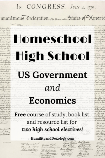 Homeschool High School Government and Economics