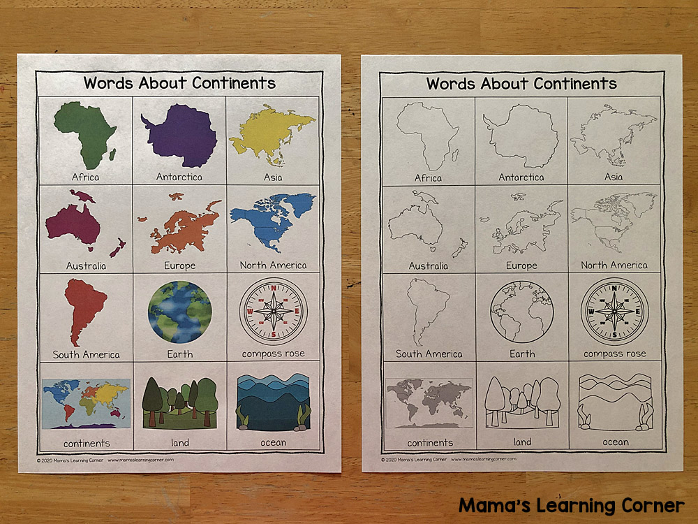 Continents Writing Booklet