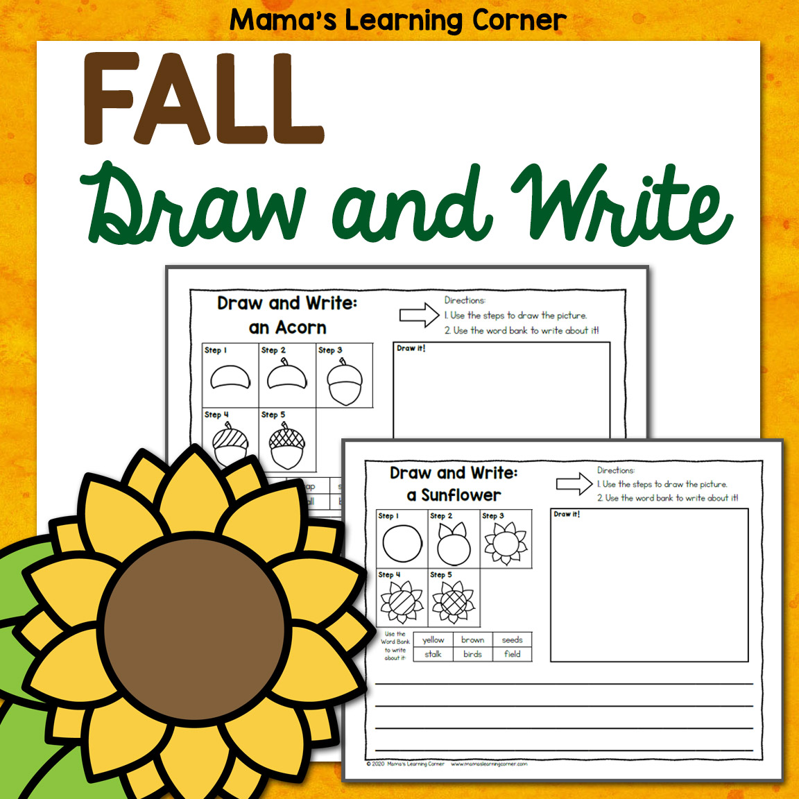 Fall Directed Draw And Write Worksheets