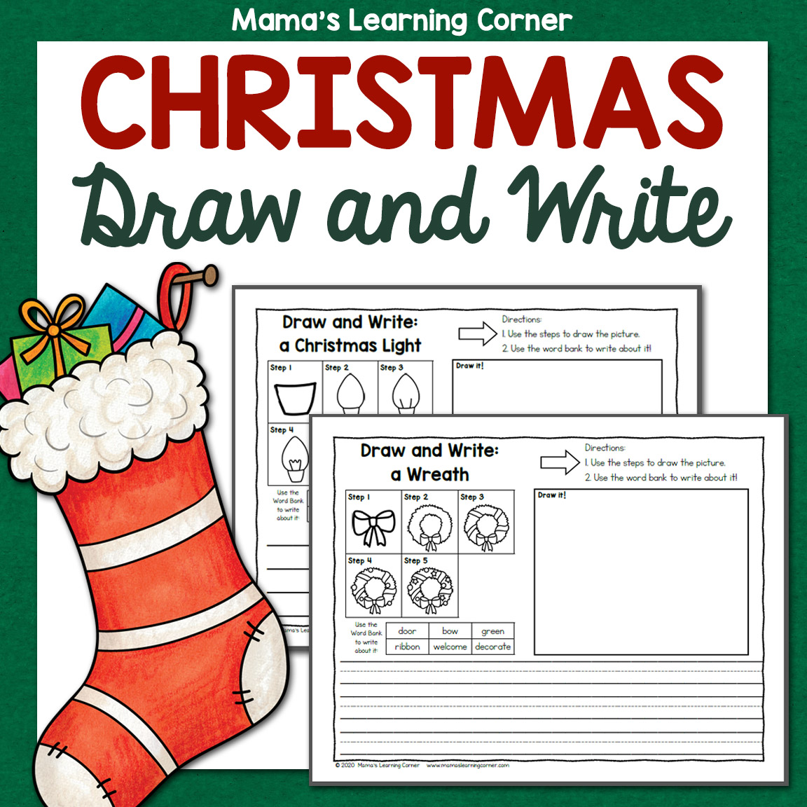 Christmas Directed Draw And Write Worksheets