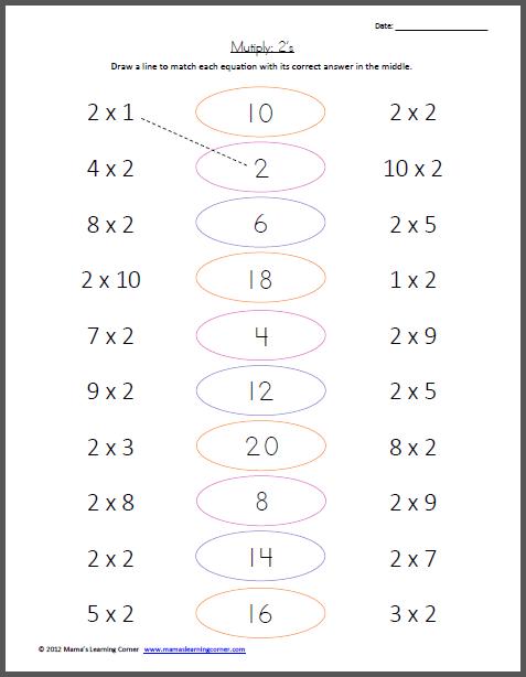 Multiplication X2 Worksheet