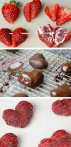 chocolade aardbeien hartjes