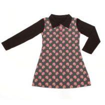 ninie-kinderkleding-polo-dress-zwart-bloem-hr