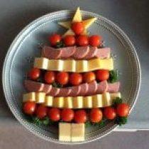 Kaas en worst kerstboom