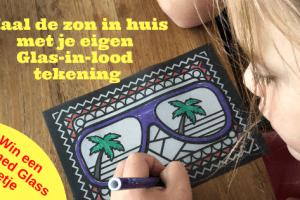 Haal de zon in huis met je eigen Glas-in-lood tekening
