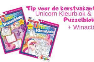 Tip voor de kerstvakantie | Unicorn Kleurblok en Puzzelblok + Winactie