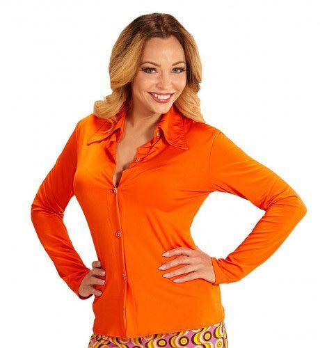 Oranje Outfit - shirt vrouw -Feestkleding365
