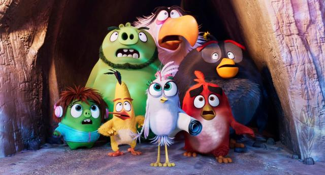 (L to R, front to back) Courtney (Awkwafina), Chuck (Josh Gad), Silver (Rachel Bloom), Red (Jason Sudeikis), Leonard (Bill Hader), Mighty Eagle (Peter Dinklage) and Bomb (Danny McBride) in Columbia Pictures and Rovio Animations' ANGRY BIRDS 2