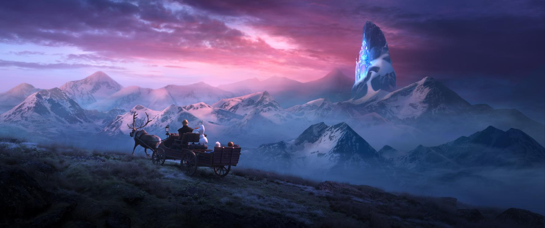 "In Walt Disney Animation Studios' ""Frozen 2, Elsa, Anna, Kristoff, Olaf and Sven journey far beyond the gates of Arendelle in search of answers. Featuring the voices of Idina Menzel, Kristen Bell, Jonathan Groff and Josh Gad, ""Frozen 2"" opens in U.S. theaters November 22. ©2019 Disney. All Rights Reserved."