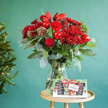 Greetz kerstboeket met chocolade