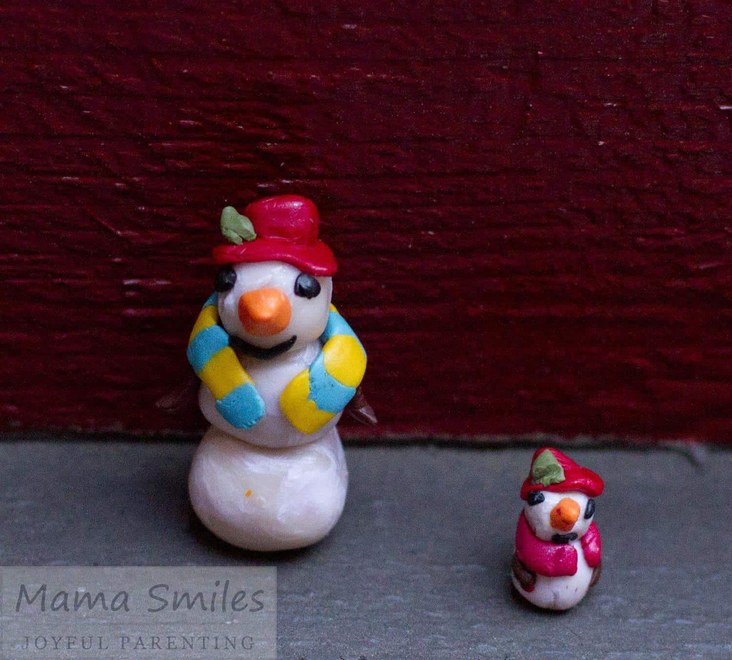 Polymer Clay Snowman Ornaments Mama Smiles