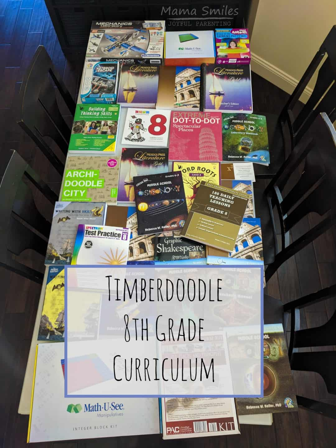 Timberdoodle 8th Grade Curriculum Unboxing Mama Smiles