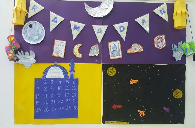 ramadan display wall!