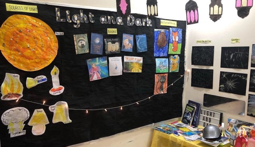 science, light and dark, unit study, homeschool